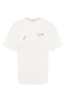 Женская хлопковая футболка GOLDEN GOOSE DELUXE BRAND белого цвета, арт. G35WP124.S1 | Фото 1