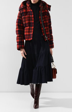 Женский пуховая куртка CHLOÉ красного цвета, арт. CHC19WMA43075 | Фото 2