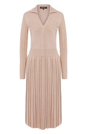 Женское платье из смеси кашемира и шелка LORO PIANA светло-розового цвета, арт. FAI6766   Фото 1