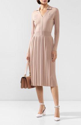 Женское платье из смеси кашемира и шелка LORO PIANA светло-розового цвета, арт. FAI6766   Фото 2