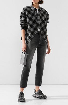Женские текстильные кроссовки track.2 BALENCIAGA серого цвета, арт. 568615/W2GN3 | Фото 2