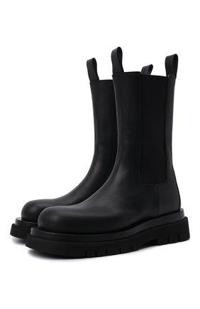 Женские кожаные ботинки bv lug BOTTEGA VENETA черного цвета, арт. 592045/VIFH0 | Фото 1