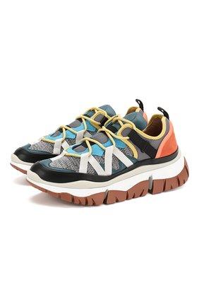 Женские комбинированные кроссовки blake CHLOÉ разноцветного цвета, арт. CHC19W25018 | Фото 1