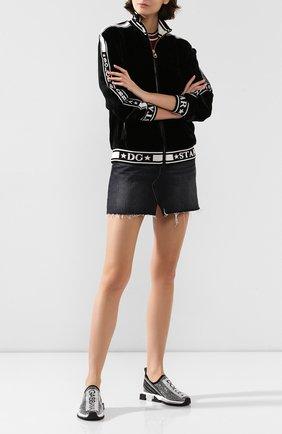 Женские текстильные кроссовки sorrento DOLCE & GABBANA серого цвета, арт. CK1644/AZ293 | Фото 2