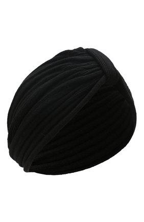 Женский кашемировый тюрбан INVERNI черного цвета, арт. 4606CM | Фото 1