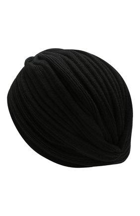 Женский кашемировый тюрбан INVERNI черного цвета, арт. 4606CM | Фото 2