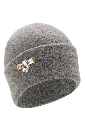 Женский шерстяная шапка INVERNI серого цвета, арт. 4614CM | Фото 1