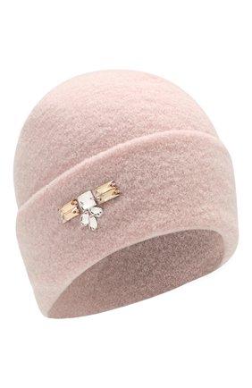 Женский шерстяная шапка INVERNI светло-розового цвета, арт. 4614CM | Фото 1