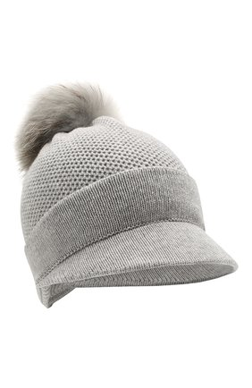 Женский кашемировая шапка INVERNI серого цвета, арт. 4626CM | Фото 1