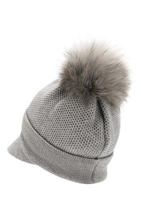 Женский кашемировая шапка INVERNI серого цвета, арт. 4626CM | Фото 2