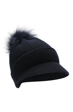 Женский кашемировая шапка INVERNI темно-синего цвета, арт. 4626CM | Фото 1