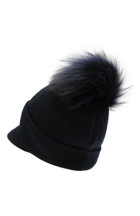 Женский кашемировая шапка INVERNI темно-синего цвета, арт. 4626CM | Фото 2