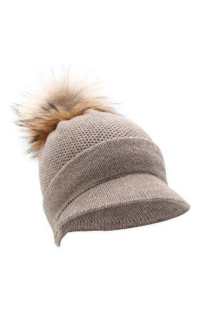 Женский кашемировая шапка INVERNI темно-бежевого цвета, арт. 4626CM | Фото 1