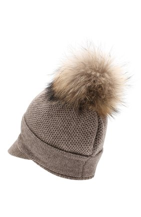 Женский кашемировая шапка INVERNI темно-бежевого цвета, арт. 4626CM | Фото 2