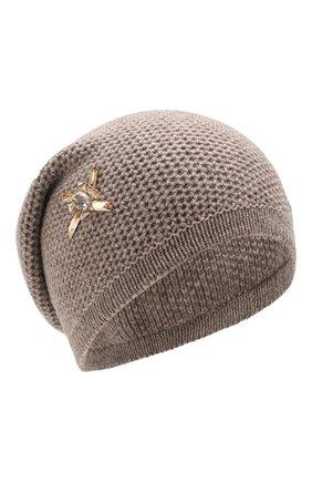 Женский кашемировая шапка INVERNI темно-бежевого цвета, арт. 4671CM | Фото 1
