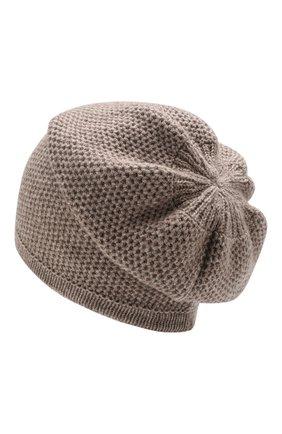 Женский кашемировая шапка INVERNI темно-бежевого цвета, арт. 4671CM | Фото 2