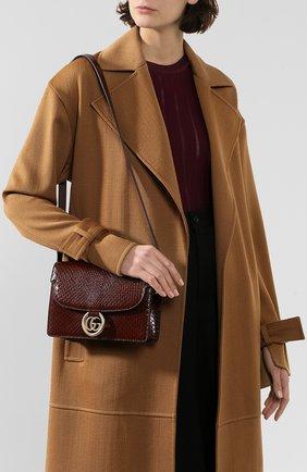 Женская сумка gg ring из кожи питона GUCCI коричневого цвета, арт. 589474/LJM0G/PBIV | Фото 2