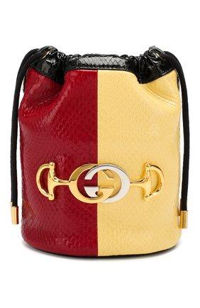 Женская сумка gucci zumi из кожи питона GUCCI красного цвета, арт. 576432/L0WDX/PBIV | Фото 1