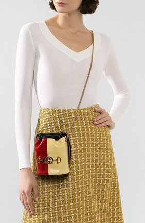 Женская сумка gucci zumi из кожи питона GUCCI красного цвета, арт. 576432/L0WDX/PBIV | Фото 2