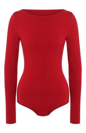 Женское шерстяное боди ALAIA красного цвета, арт. 9W9UD22RM001 | Фото 1