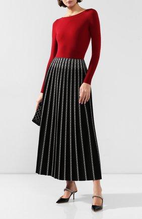 Женское шерстяное боди ALAIA красного цвета, арт. 9W9UD22RM001 | Фото 2