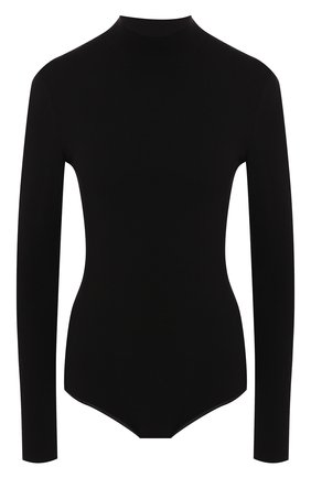 Женское шерстяное боди ALAIA черного цвета, арт. 9W9UA61RM001 | Фото 1