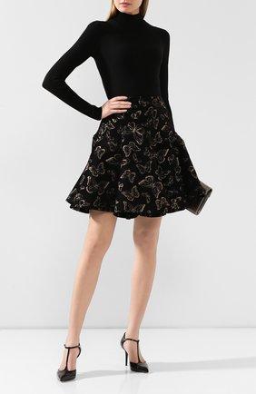 Женское шерстяное боди ALAIA черного цвета, арт. 9W9UA61RM001 | Фото 2