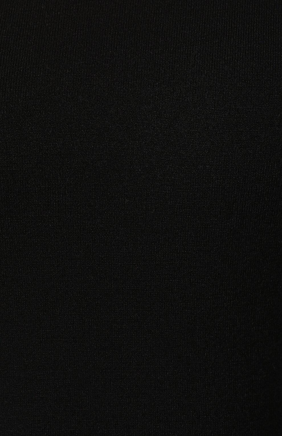 Женское шерстяное боди ALAIA черного цвета, арт. 9W9UA61RM001 | Фото 5 (Материал внешний: Шерсть; Рукава: Длинные; Стили: Классический, Минимализм, Кэжуэл; Кросс-КТ: с рукавом; Статус проверки: Проверена категория)
