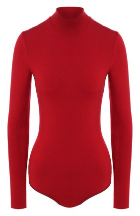 Женское шерстяное боди ALAIA красного цвета, арт. 9W9UA61RM001 | Фото 1