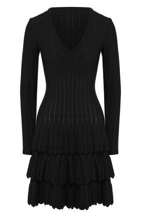 Женское шерстяное платье ALAIA черного цвета, арт. 9W9RM65CM486 | Фото 1