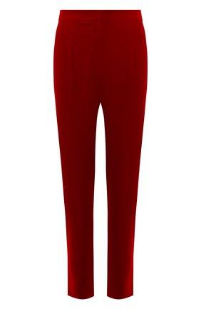 Женские бархатные брюки DOLCE & GABBANA красного цвета, арт. FTA6ST/FUWB3 | Фото 1