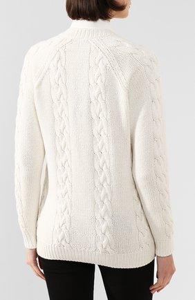 Женский кашемировый кардиган DOLCE & GABBANA белого цвета, арт. FX533T/JAWQK | Фото 4