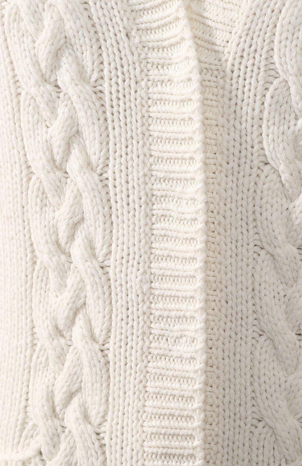 Женский кашемировый кардиган DOLCE & GABBANA белого цвета, арт. FX533T/JAWQK | Фото 5