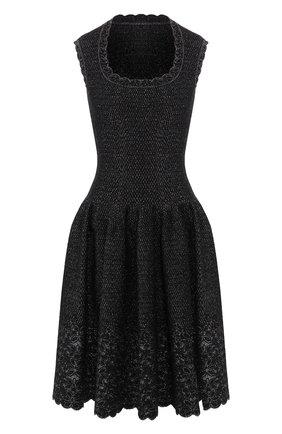 Женское платье ALAIA серебряного цвета, арт. 9H9RN18RM515   Фото 1