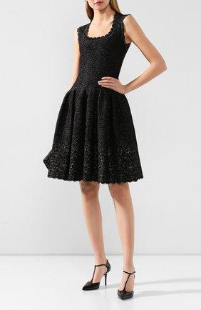 Женское платье ALAIA серебряного цвета, арт. 9H9RN18RM515   Фото 2