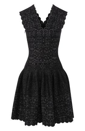 Женское платье ALAIA серебряного цвета, арт. 9H9RN21CM515   Фото 1