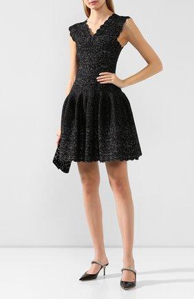 Женское платье ALAIA серебряного цвета, арт. 9H9RN21CM515   Фото 2
