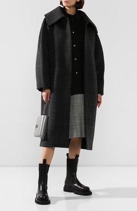 Женское пальто BALENCIAGA серого цвета, арт. 594880/TGU03 | Фото 2