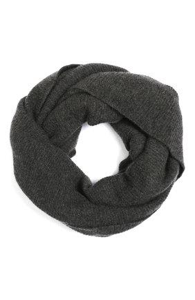 Мужской кашемировый шарф-снуд TEGIN темно-серого цвета, арт. 5233   Фото 1