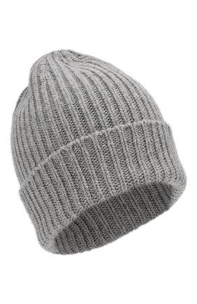 Мужская шапка из смеси шерсти и кашемира TEGIN серого цвета, арт. CW5246   Фото 1