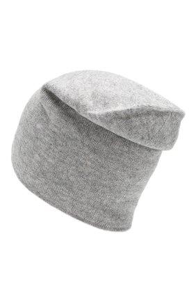 Мужская двусторонняя шапка из смеси шерсти и кашемира TEGIN светло-серого цвета, арт. CW1045   Фото 2
