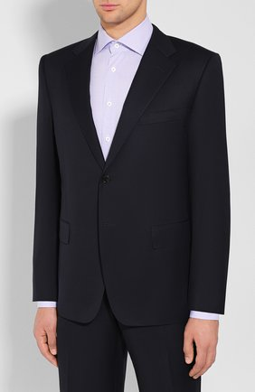 Мужской шерстяной костюм CORNELIANI темно-синего цвета, арт. 847315C9818150/92   Фото 2