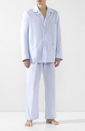 Мужская хлопковая пижама BRIONI голубого цвета, арт. NBP30L/0804U | Фото 1