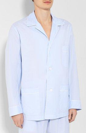 Мужская хлопковая пижама BRIONI голубого цвета, арт. NBP30L/0804U | Фото 2