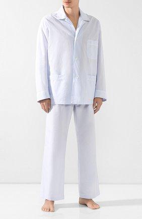 Мужская хлопковая пижама BRIONI голубого цвета, арт. NBP30L/0806C | Фото 1