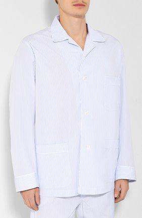 Мужская хлопковая пижама BRIONI голубого цвета, арт. NBP30L/0806C | Фото 2