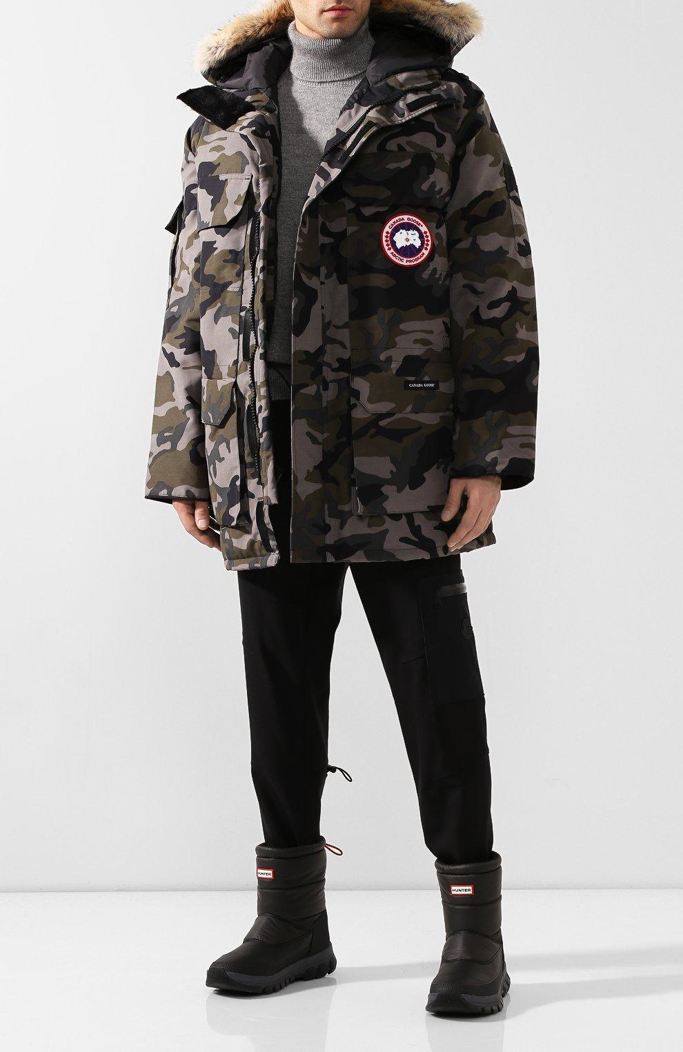 Мужские комбинированные сапоги HUNTER черного цвета, арт. MFS9112WWU   Фото 2