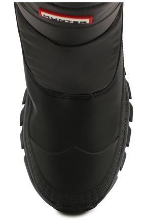 Мужские комбинированные сапоги HUNTER черного цвета, арт. MFS9112WWU   Фото 5