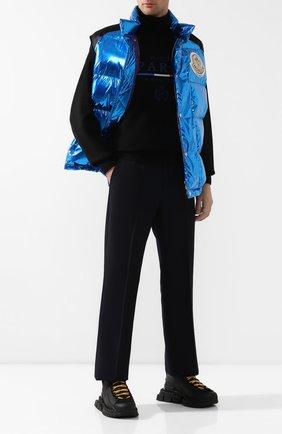 Мужской брюки 2 moncler 1952 x valextra MONCLER GENIUS темно-синего цвета, арт. E2-091-11503-00-54ABT | Фото 2