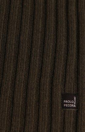 Детский шарф PAOLO PECORA MILANO зеленого цвета, арт. PP2074 | Фото 2